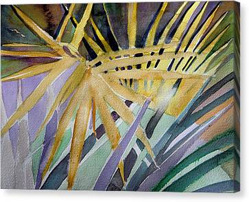 Golden Palms Canvas Print by Mindy Newman