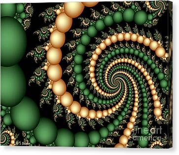 Golden Pearls Canvas Print by Sandra Bauser Digital Art