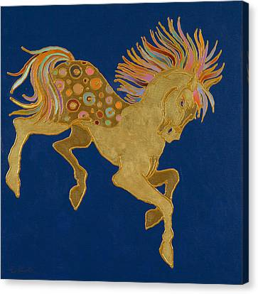 Canvas Print featuring the painting Golden Pegasus by Bob Coonts