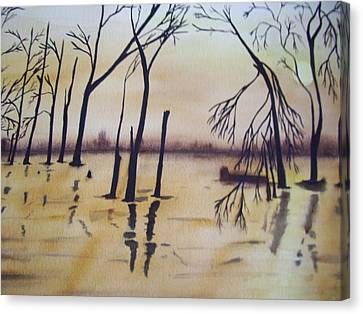 Golden Pond Canvas Print by Audrey Bunchkowski
