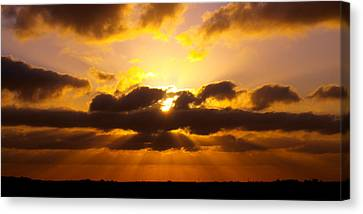 Golden Ray Sunset Canvas Print by James Granberry