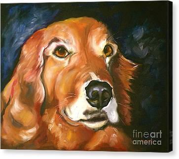Golden Retriever Forever Friend Canvas Print by Susan A Becker