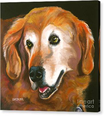 Golden Retriever Fur Child Canvas Print by Susan A Becker