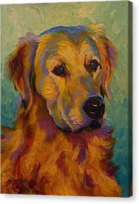 Pet Canvas Print - Golden Retriever by Marion Rose
