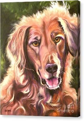Golden Retriever More Than You Know Canvas Print by Susan A Becker
