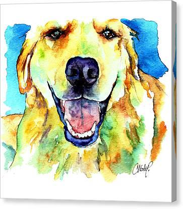 Golden Retriever Portrait Canvas Print by Christy  Freeman