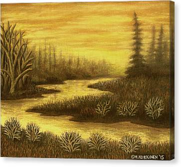 Golden River 01 Canvas Print
