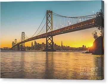 Golden San Francisco Canvas Print by JR Photography