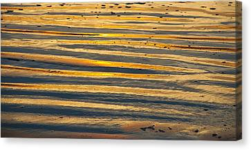 Golden Sand On Beach Canvas Print