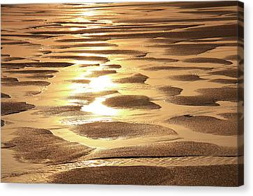 Canvas Print featuring the photograph Golden Sands by Roupen  Baker