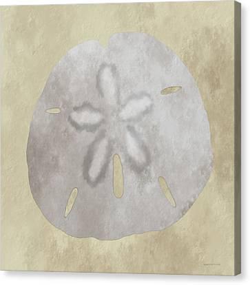 Golden Sandy Dollar Canvas Print
