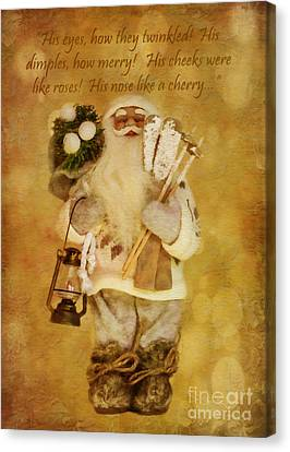 Golden Santa Card 2015 Canvas Print