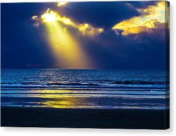 Golden Shaft Of Light Canvas Print by Garry Gay
