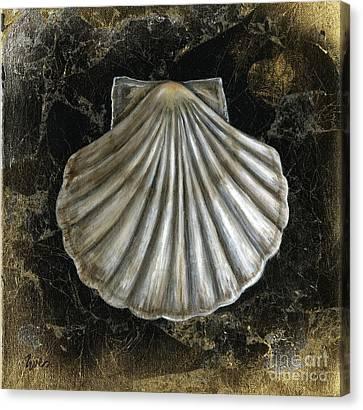 Golden Shell Canvas Print by Eve  Wheeler