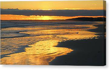 Golden Shore Canvas Print by Rosanne Jordan