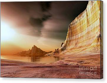 Golden Shores Canvas Print by Corey Ford