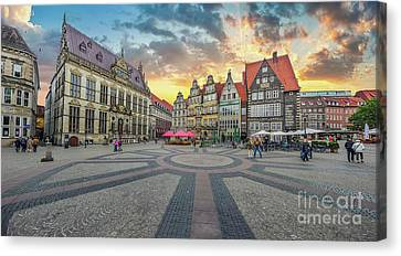 Golden Skies Of Bremen Canvas Print by JR Photography