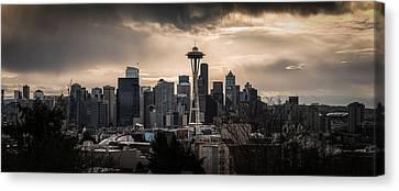 Golden Sky Seattle Canvas Print by Chris McKenna