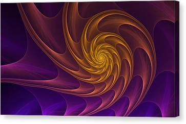 Golden Spiral Canvas Print by Anna Bliokh