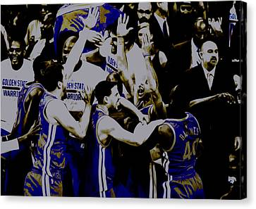 Golden State Warriors 2015 Finals Canvas Print by Brian Reaves