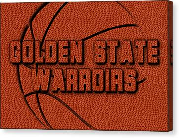 Golden State Warriors Leather Art Canvas Print