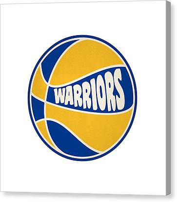 Golden State Warriors Retro Shirt Canvas Print by Joe Hamilton