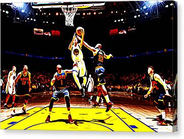 Golden State Warriors Shaun Livingston Canvas Print by Brian Reaves