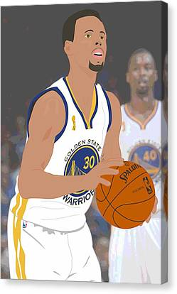 Basketball Collection Canvas Print - Golden State Warriors - Stephen Curry - 2015 by Troy Arthur Graphics