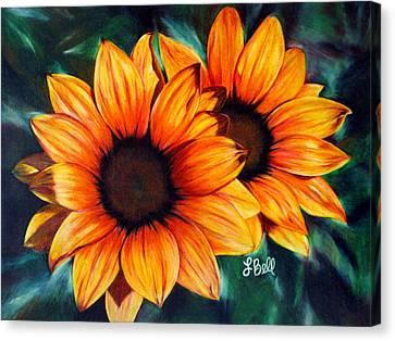 Golden Sun Canvas Print by Laura Bell