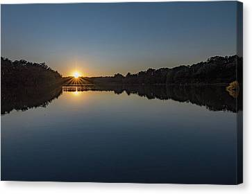 Canvas Print featuring the photograph Golden Sunset by Charles Kraus