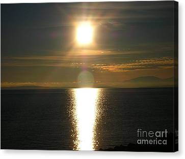 Canvas Print featuring the photograph Golden Sunset by Kim Prowse