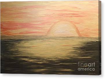 Golden Sunset Canvas Print by Rachel Hannah