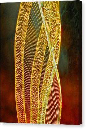 Golden Swirl Abstract Canvas Print
