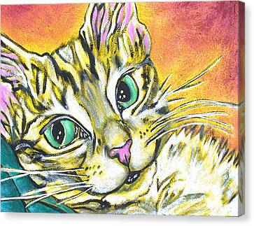 Golden Tabby Canvas Print by Sarah Crumpler