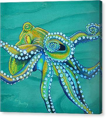 Golden Tako Canvas Print by Emily Brantley