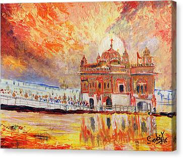 Golden Temple At Day Canvas Print