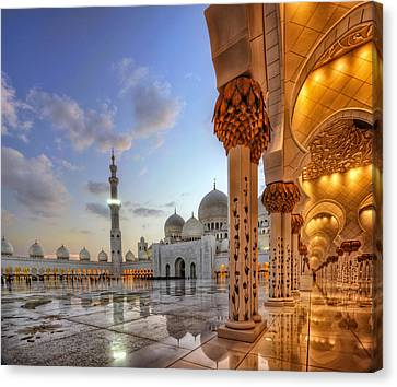 Golden Temple Canvas Print by John Swartz