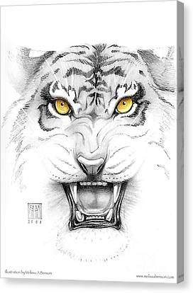 Golden Tiger Eyes Canvas Print by Melissa A Benson