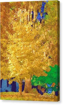 Canvas Print featuring the photograph Golden Tree by Donna Bentley