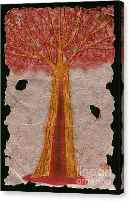 Golden Trees Crying Tears Of Blood Canvas Print