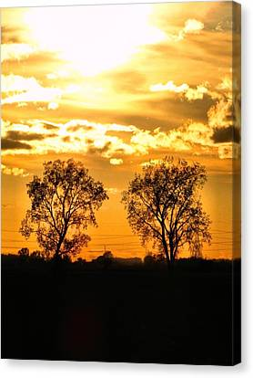 Two Suns Canvas Print - Golden Twins by Scott Hovind