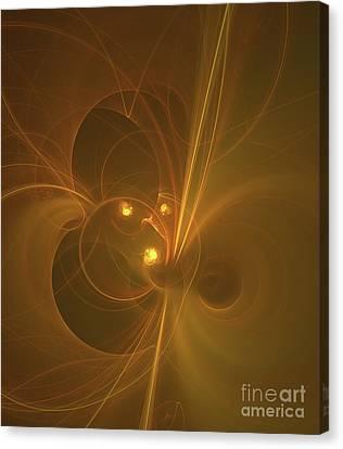 Fractal Geometry Canvas Print - Golden Universe by Raphael Terra