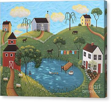 Golden Valley Canvas Print by Mary Charles