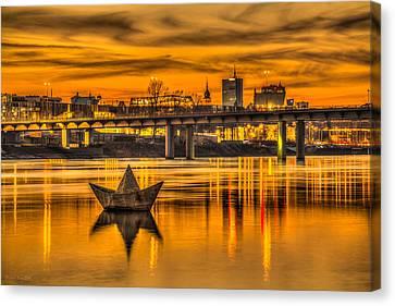 Golden Vistula Canvas Print by Julis Simo