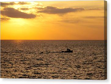 Canvas Print featuring the photograph Golden Voyage by Christopher Woods