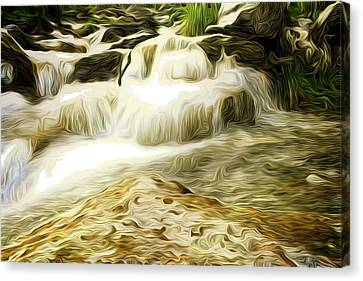 Golden Waterfall Canvas Print