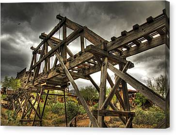 Goldfield Ghost Town - The Bridge  Canvas Print by Saija  Lehtonen