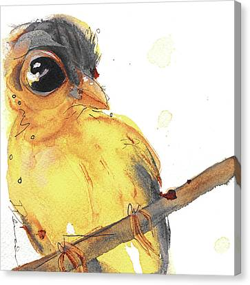 Canvas Print featuring the painting Goldfinch by Dawn Derman