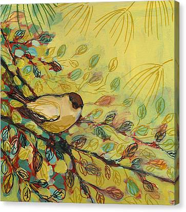 Goldfinch Waiting Canvas Print by Jennifer Lommers