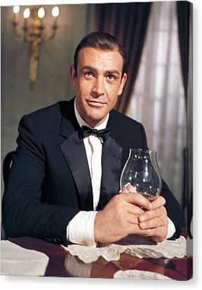 Goldfinger, Sean Connery, 1964 Canvas Print by Everett